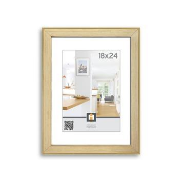 Fotolijst Aruba hout goud en natuur 18x24 cm
