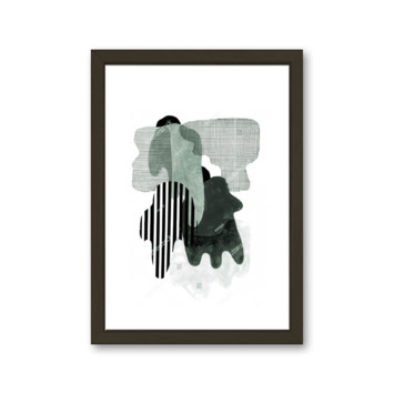 Fotolijst 3 hout zwart 21x30 cm