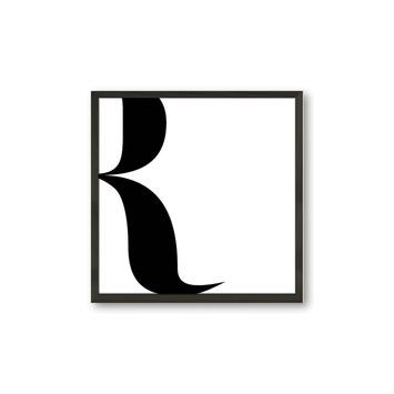 Fotolijst 8 hout zwart 30x30 cm