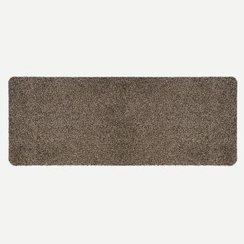 Droogloopmat 50x150 cm bruin