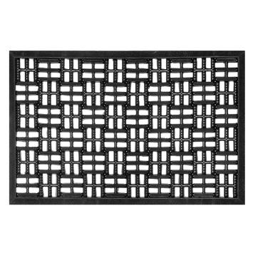 Deurmat 50x80 rubber zwart