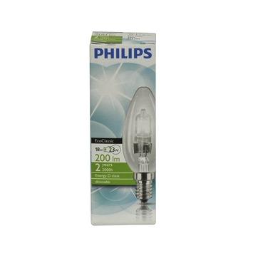 Philips EcoClassic halogeenlamp kaars helder E14 18W