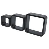 Duraline kubusset zwart gelakt 3 stuks