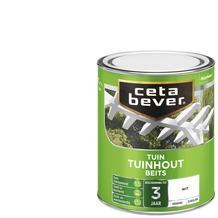 Cetabever tuinhoutbeits dekkend wit zijdeglans 750 ml
