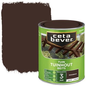 Cetabever tuinhoutbeits dekkend roodbruin zijdeglans 750 ml