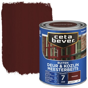 Cetabever meesterbeits deur & kozijn transparant mahonie glans 750 ml