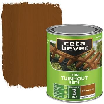 Cetabever tuinhoutbeits transparant donker eiken zijdeglans 750 ml