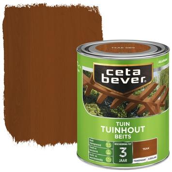 Cetabever tuinhoutbeits transparant teak zijdeglans 750 ml