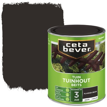 Cetabever tuinhoutbeits dekkend klassiek bruin zijdeglans 750 ml