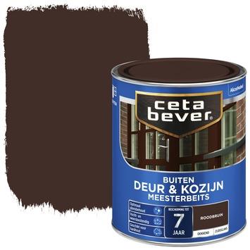 Cetabever meesterbeits deur & kozijn dekkend roodbruin zijdeglans 750 ml