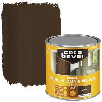 Cetabever binnenbeits deur, kozijn en meubel transparant wenge zijdeglans 250 ml