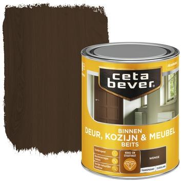Cetabever binnenbeits deur, kozijn en meubel transparant wenge zijdeglans 750 ml
