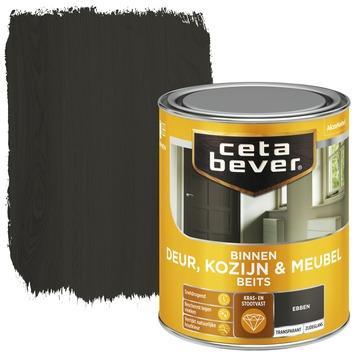 Cetabever binnenbeits deur, kozijn en meubel transparant ebben zijdeglans 750 ml