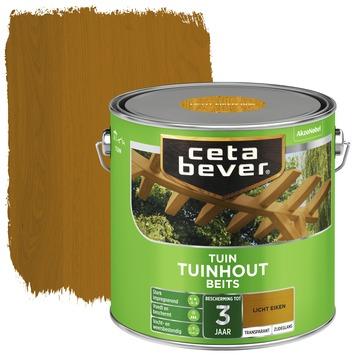 Cetabever tuinhoutbeits transparant licht eiken zijdeglans 2,5 l