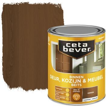 Cetabever binnenbeits deur, kozijn en meubel transparant donker kersen zijdeglans 750 ml