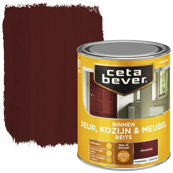 Cetabever binnenbeits deur, kozijn en meubel transparant mahonie zijdeglans 750 ml