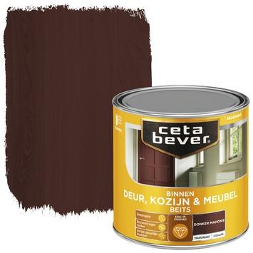 Cetabever binnenbeits deur, kozijn en meubel transparant donker mahonie zijdeglans 250 ml