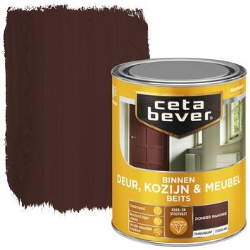Cetabever binnenbeits deur, kozijn en meubel transparant donker mahonie zijdeglans 750 ml