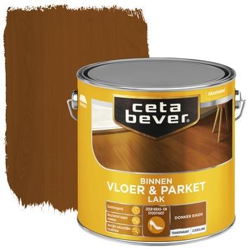 Cetabever vloer- & parketlak transparant donker eiken zijdeglans 2,5 l
