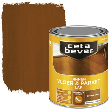 Cetabever vloer- & parketlak transparant donker eiken zijdeglans 750 ml