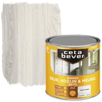 Cetabever binnenbeits deur, kozijn en meubel transparant white wash zijdeglans 250 ml