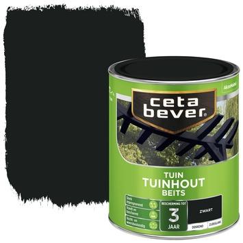 Cetabever tuinhoutbeits dekkend zwart zijdeglans 750 ml