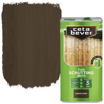 Cetabever schuttingbeits transparant donker bruin 5 l