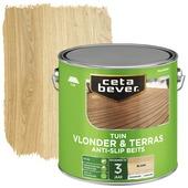 Cetabever tuinbeits vlonder & terras antislip transparant blank zijdeglans 2,5 l