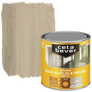 Cetabever binnenbeits deur, kozijn en meubel transparant grijs zijdeglans 250 ml