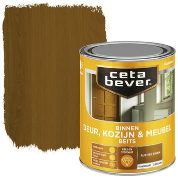 Cetabever binnenbeits deur, kozijn en meubel transparant rustiek eiken 750 ml