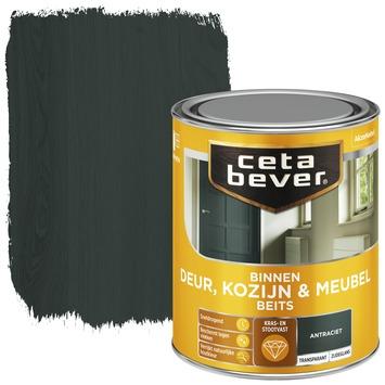 Cetabever binnenbeits deur, kozijn en meubel transparant antraciet zijdeglans 750 ml