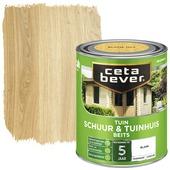 Cetabever tuinbeits schuur & tuinhuis transparant blank zijdeglans 750 ml