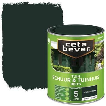 Cetabever tuinbeits schuur & tuinhuis dekkend donkergroen zijdeglans 750 ml