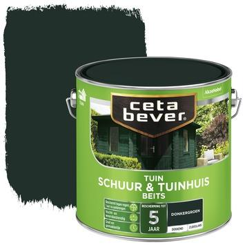Cetabever tuinbeits schuur & tuinhuis dekkend donkergroen zijdeglans 2,5 l