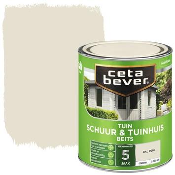 Cetabever schuur- & tuinhuis beits dekkend RAL 9001 crème wit 750 ml