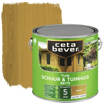 Cetabever tuinbeits schuur & tuinhuis transparant grenen zijdeglans 2,5l
