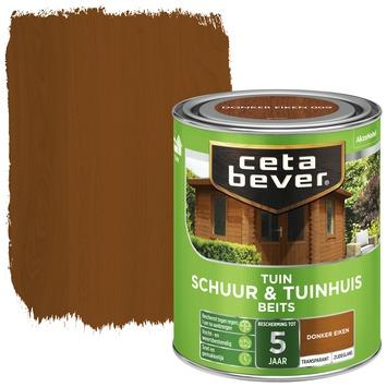 Cetabever tuinbeits schuur & tuinhuis transparant donker eiken zijdeglans 750 ml