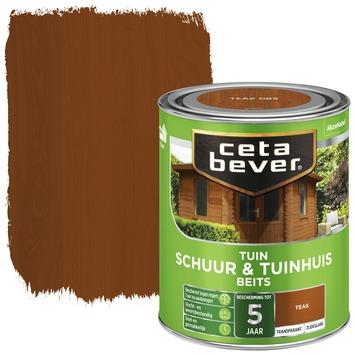 Cetabever tuinbeits schuur & tuinhuis transparant teak zijdeglans 750 ml