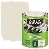 Cetabever tuinhoutbeits dekkend RAL 9001 crème wit zijdeglans 750 ml