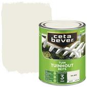 Cetabever tuinhoutbeits dekkend RAL 9010 gebroken wit zijdeglans 750 ml