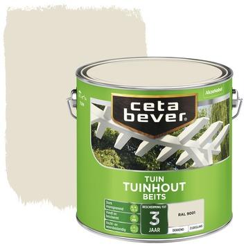 Cetabever tuinhoutbeits dekkend RAL 9001 crème wit zijdeglans 2,5 l