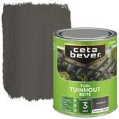 Cetabever tuinhoutbeits transparant antraciet zijdeglans 750 ml