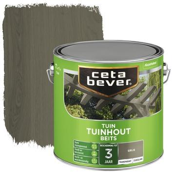 Cetabever tuinhoutbeits transparant grijs zijdeglans 2,5 l