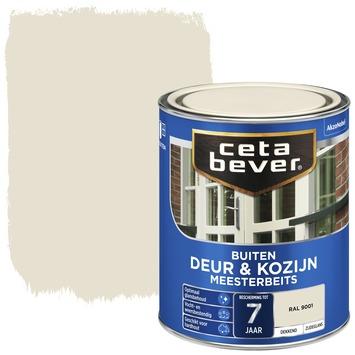 Cetabever meesterbeits deur & kozijn dekkend RAL 9001 crème wit zijdeglans 750 ml