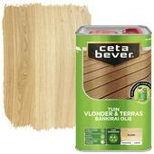 Cetabever vlonder & terrasolie bankirai transparant blank zijdemat 4 l