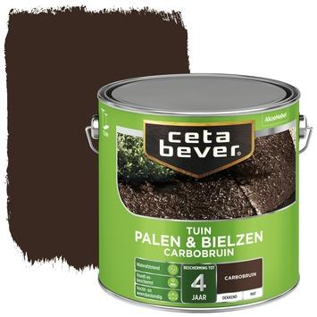 Cetabever tuinbeits palen & bielzen carbobruin mat 2,5 l