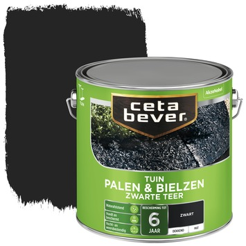 Cetabever palen & bielzen zwarte teer mat 2,5 l