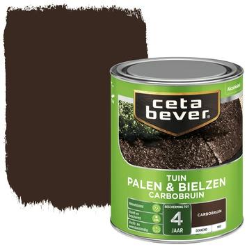 Cetabever tuinbeits palen & bielzen carbobruin mat 750 ml