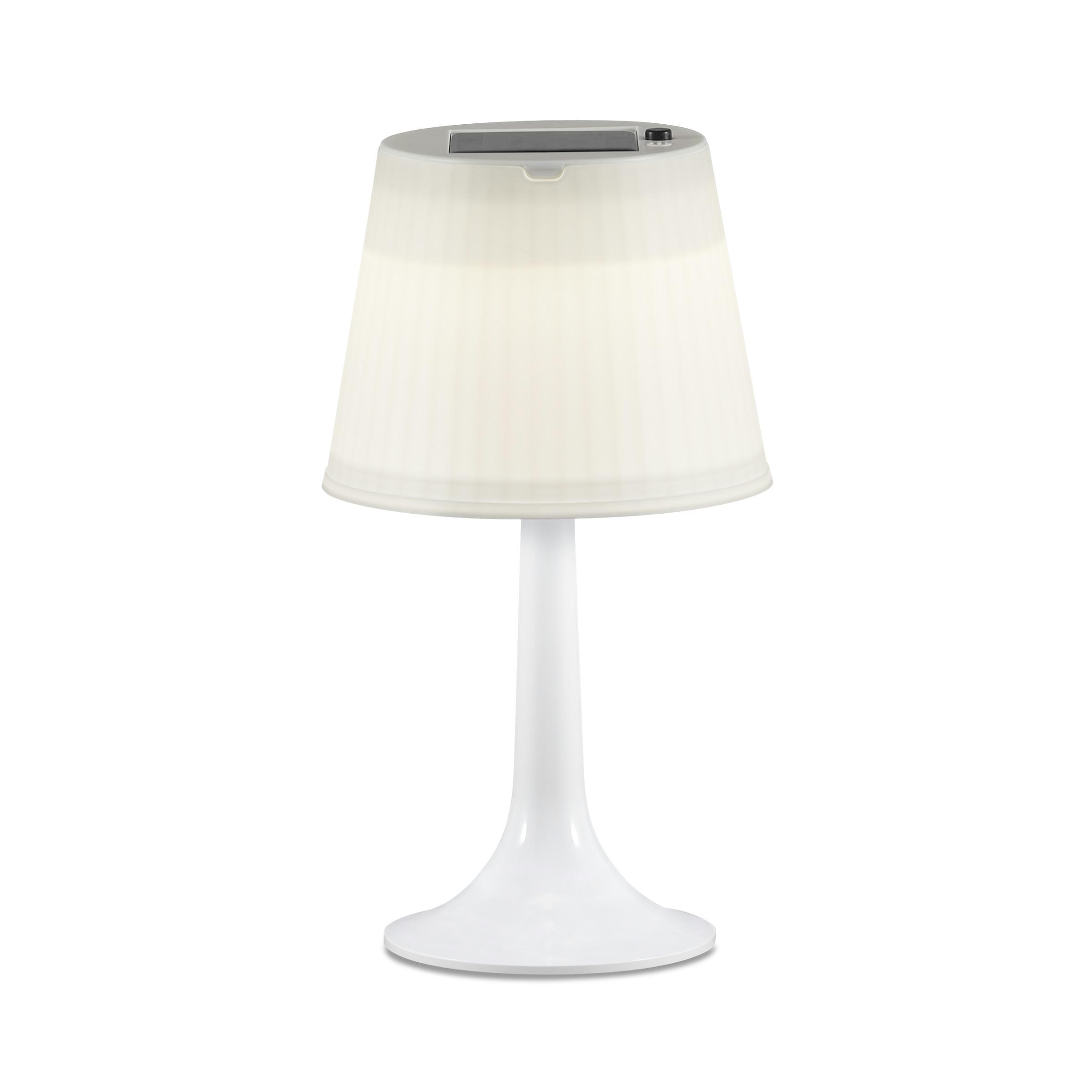 Solar tafellamp met LED verlichting Wit