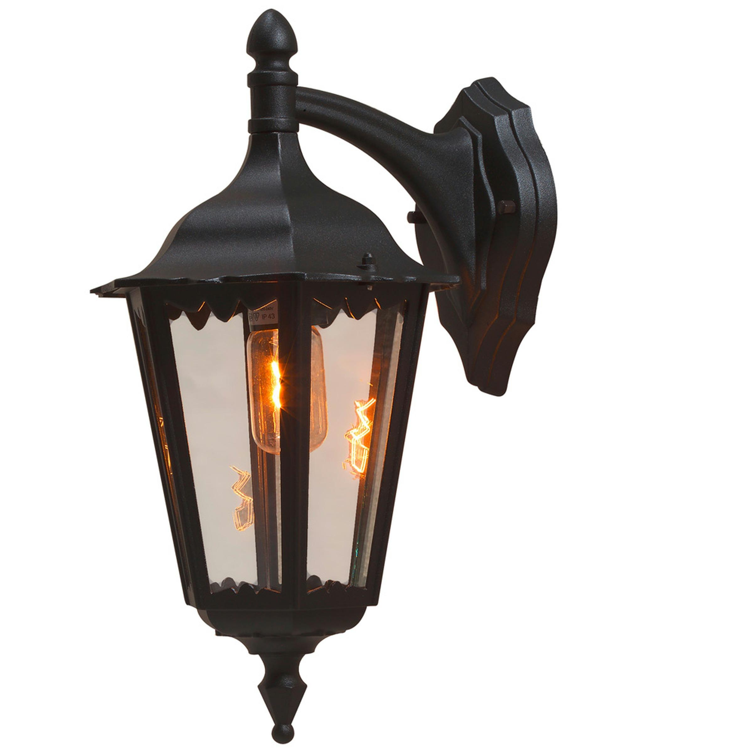 Bevallige buitenwandlamp FIRENZE B hangend, zwart